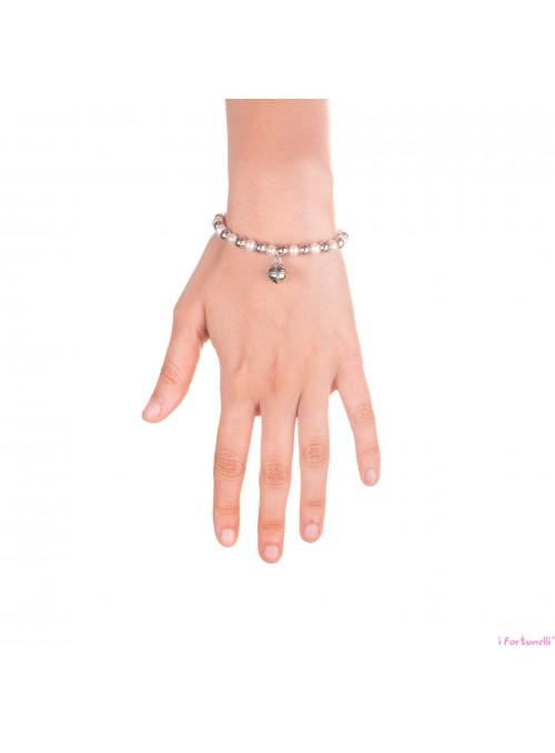 Bracciale Sonaglio con sfere in Argento e Perle 6 mm