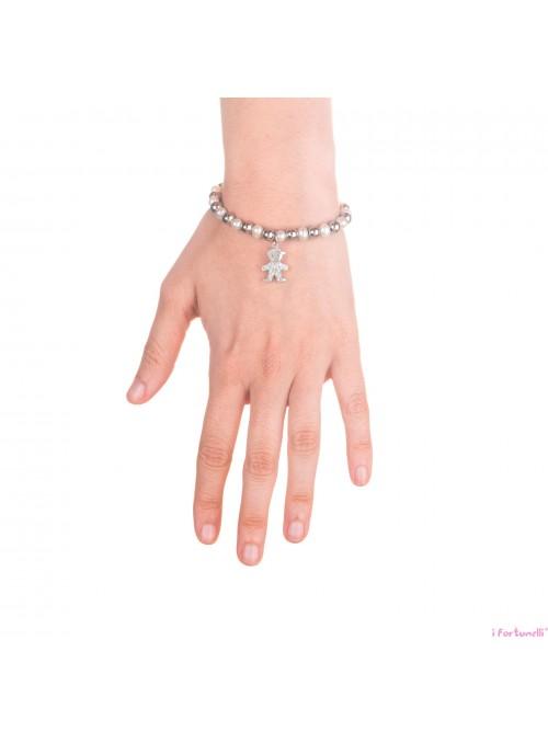 Bracciale Bambino con sfere in Argento e Perle 6 mm