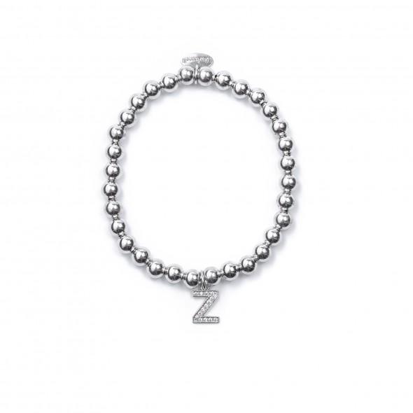 Bracciale Argento Lettera Z con sfere da 5 mm