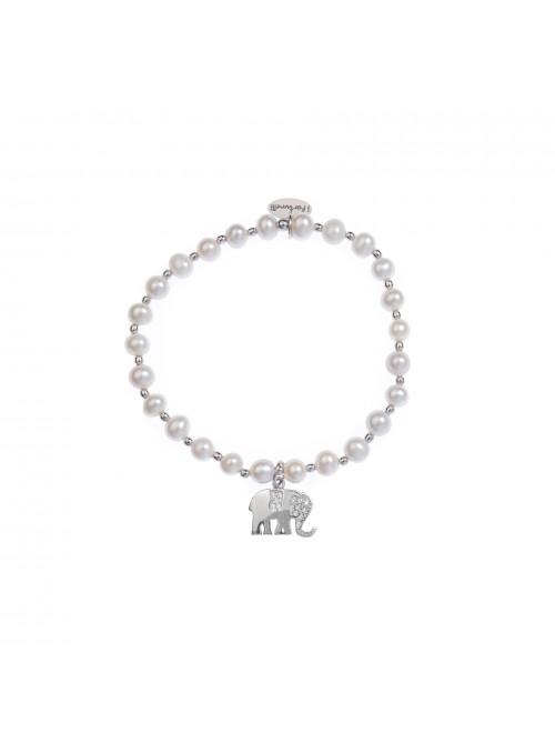 Bracciale Perle Elefante