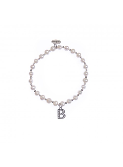 Bracciale Perle lettera B