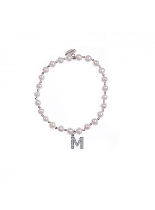 Bracciale Perle lettera M