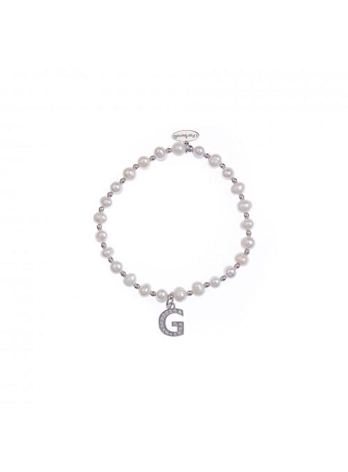 Bracciale Perle lettera G