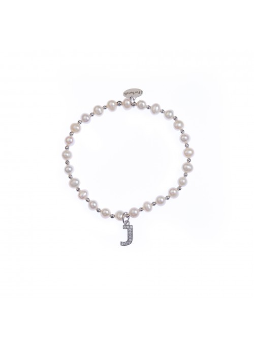 Bracciale Perle lettera J