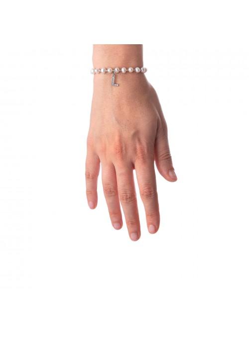 Bracciale Perle lettera L