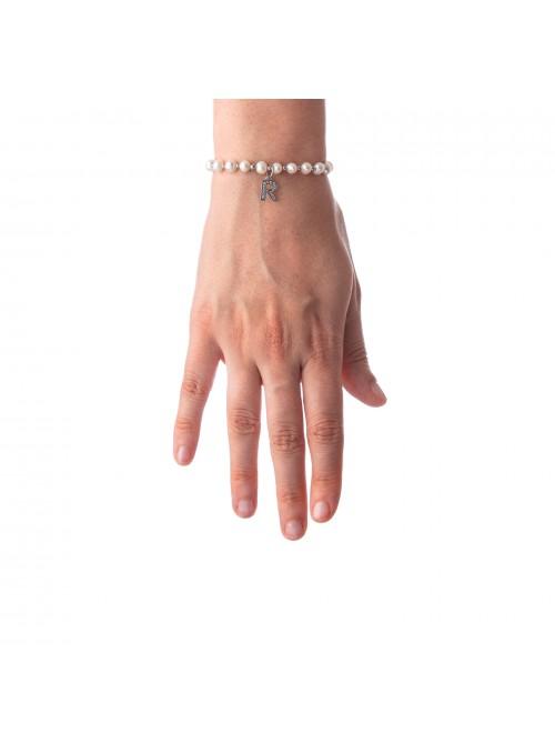 Bracciale Perle lettera R