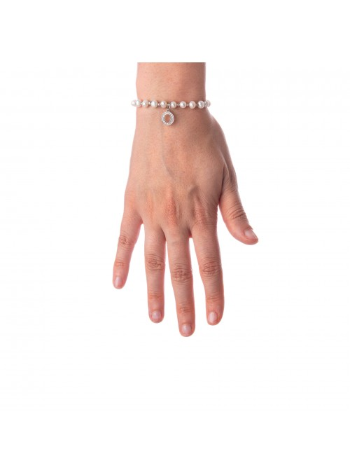 Bracciale Perle lettera O
