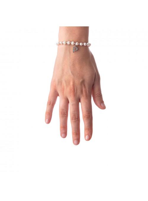 Bracciale Perle lettera P
