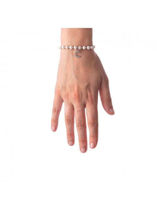 Bracciale Perle lettera C