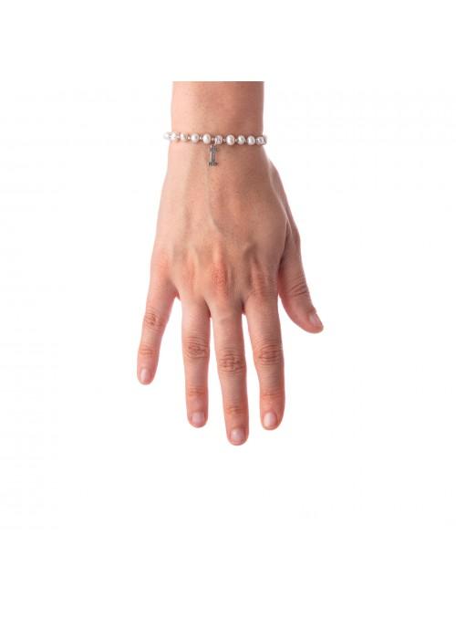 Bracciale Perle lettera I
