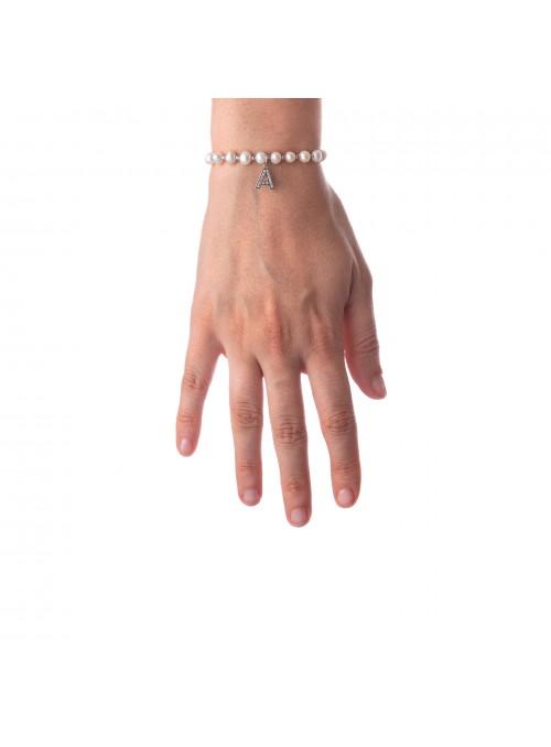 Bracciale Perle lettera A