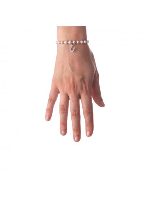 Bracciale Perle lettera U
