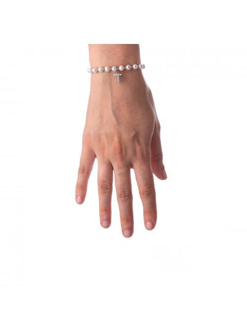 Bracciale Perle lettera T