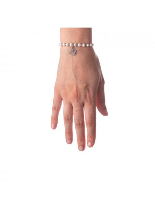 Bracciale Perle lettera N