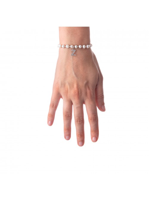 Bracciale Perle lettera Z