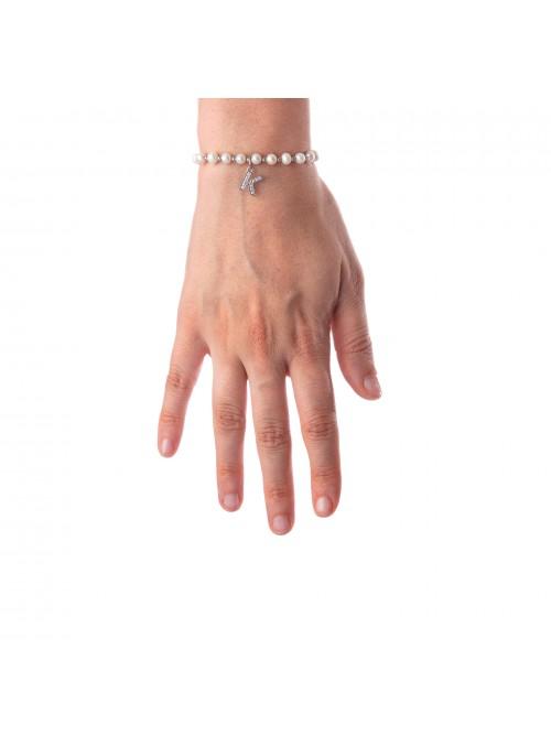 Bracciale Perle lettera K