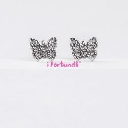 Orecchini Argento Farfalla