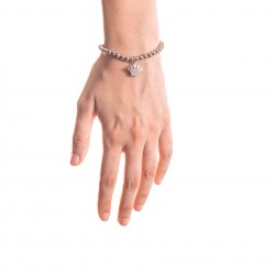 Bracciale Argento Corona con sfere da 5 mm