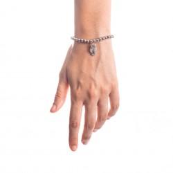 Bracciale Argento Gufo con sfere da 5 mm