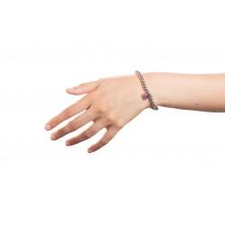 Bracciale Argento Cuore rosso con sfere 5 mm