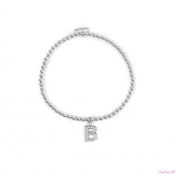 Bracciale Argento Lettera B